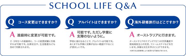 SCHOOL LIFE Q&A
