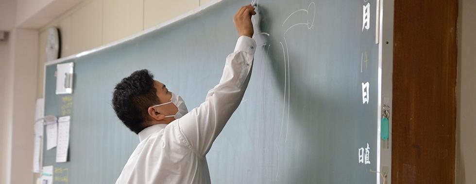 教育実習生の研究授業②
